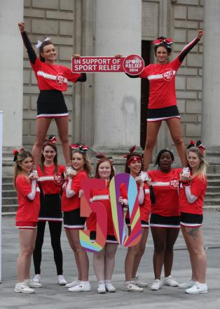 VIDEO; Southampton cheerleaders get their pom poms out for charity
