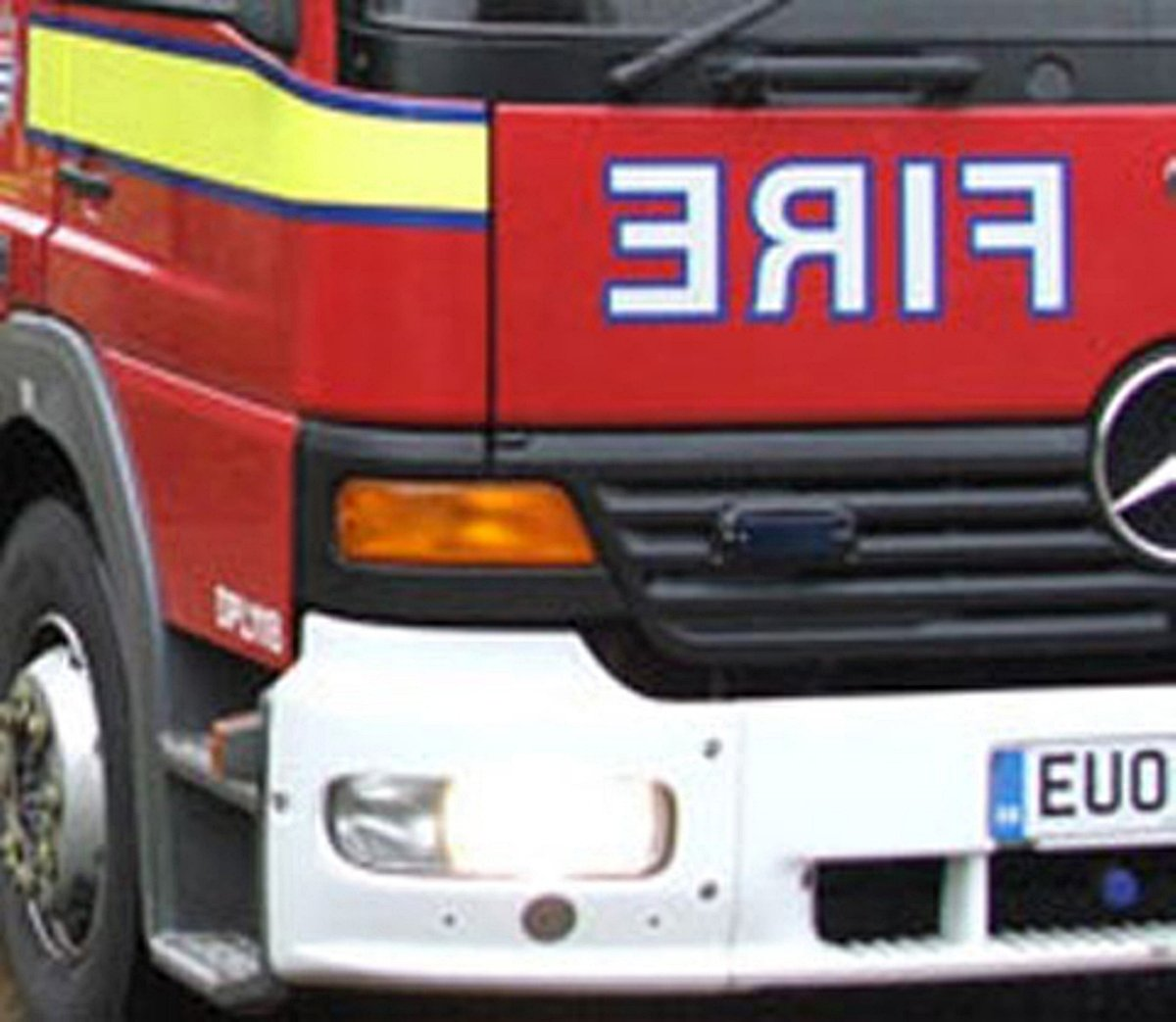 Early morning blaze above Indian takeaway in Gosport