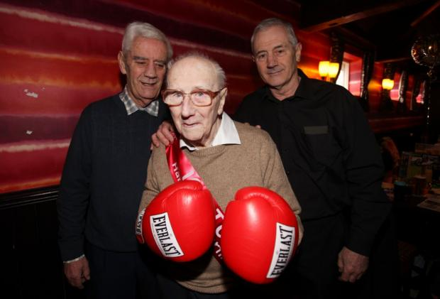 Daily Echo: Harry Brisland with sons Michael and Peter, also former boxers.