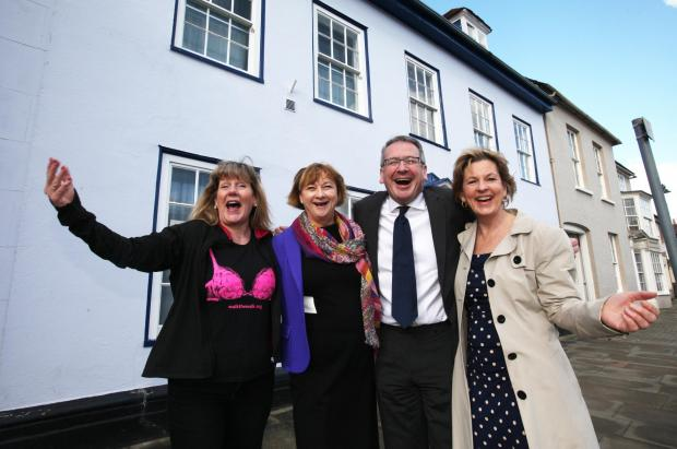 Sally Orr, Pamela Healy, Mark Hoban and Claire Morgan outside The Haven