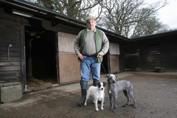 Trevor Kill with his other two dogs, May and Jasper