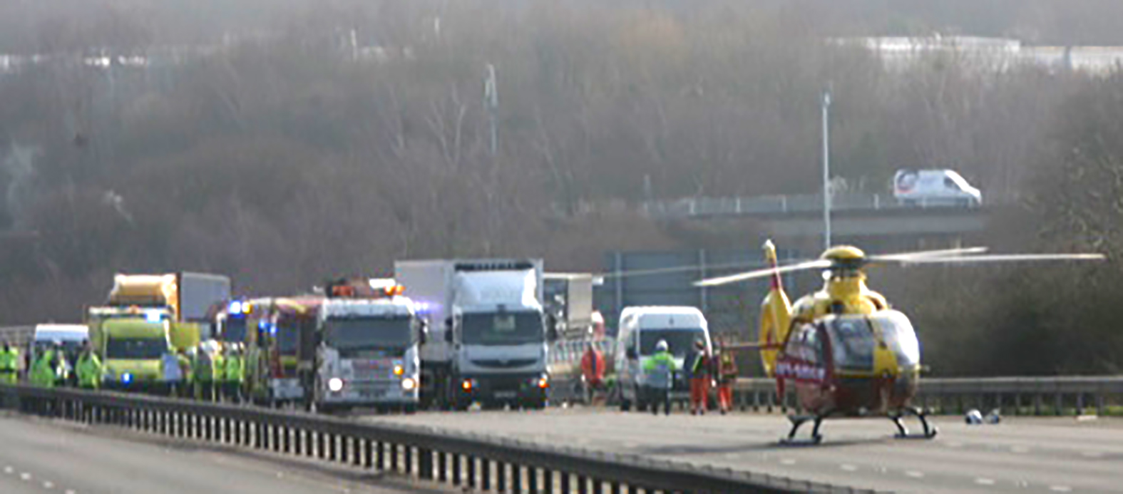 Serious lorry crash closes motorway