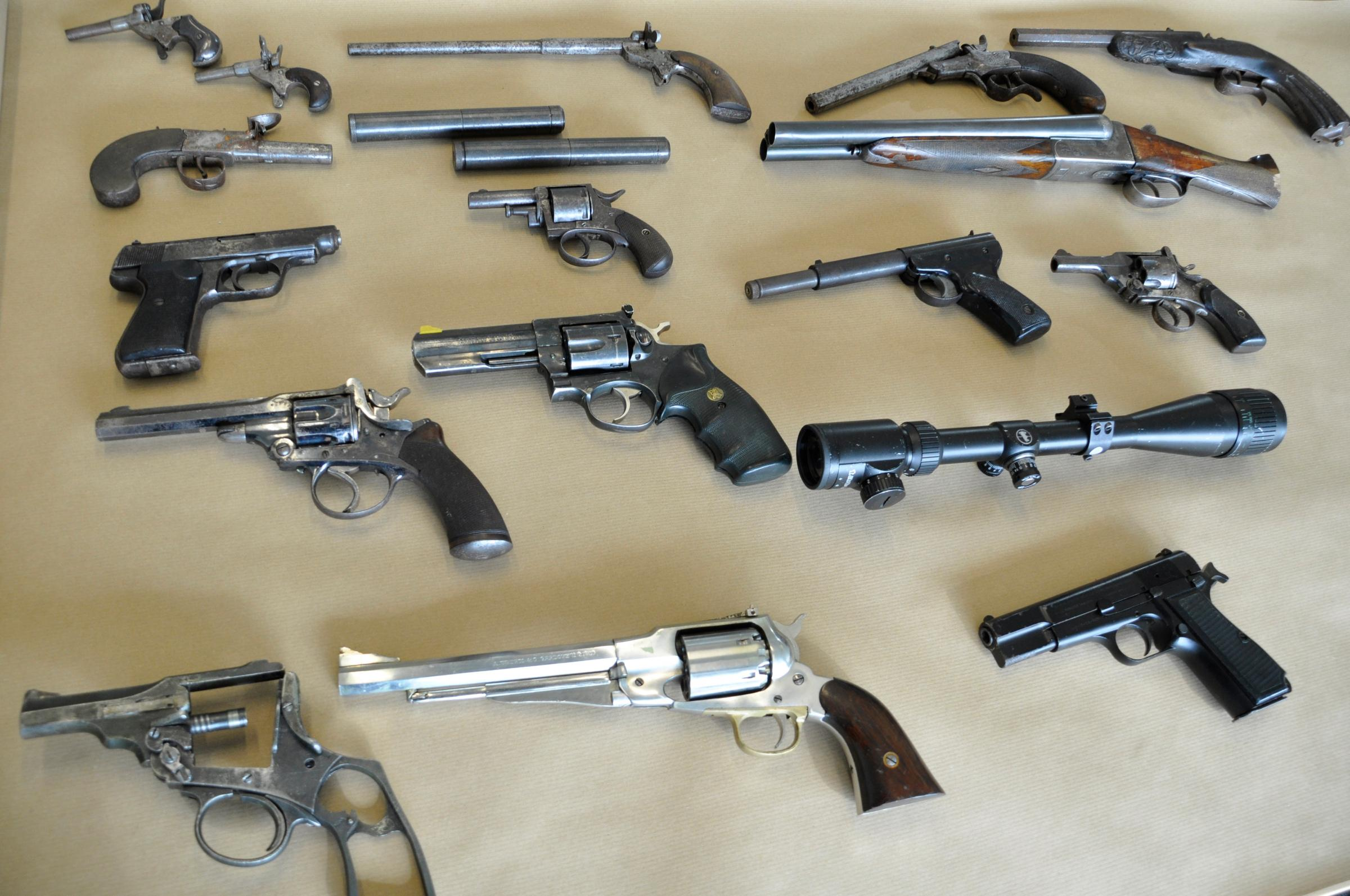 Residents' shock after huge stash of guns and ammunition of weapons found in flat