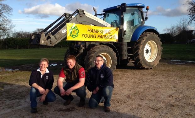 Daily Echo: Hampshire Young Farmers (left to right) Rob Day, Richard Morgan and Chris Gray.