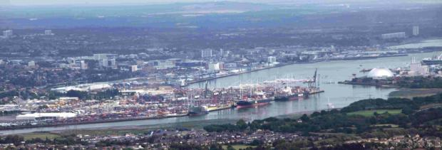 Daily Echo: WORLD LEADING: The port of Southampton.
