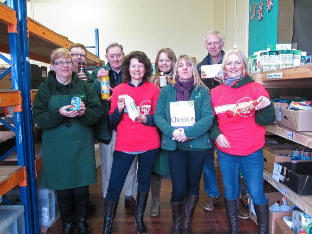 Staff at the Isle of Wight Food Bank, which received a £4,000 grant from a Sport Relief project last year