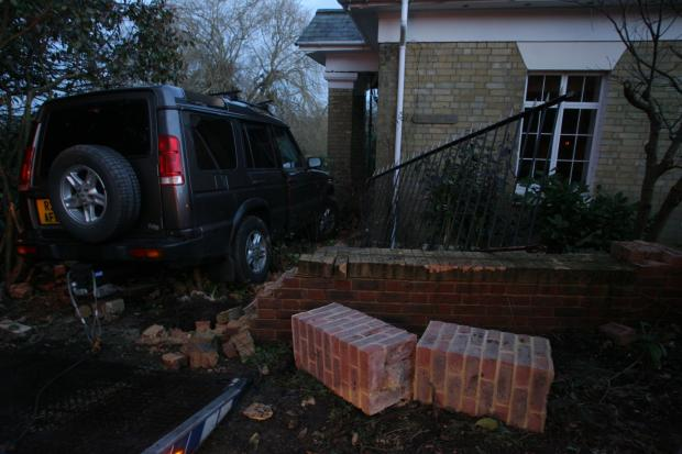 Family tell how stolen 4x4 ploughs into home