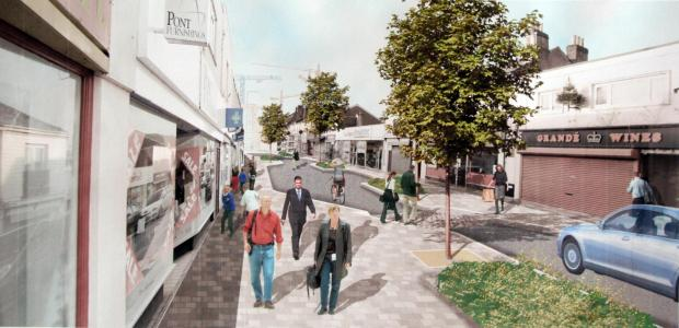 Artist's impression of how Victoria Road, Woolston, would look.