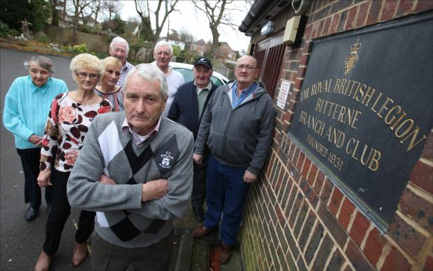 Daily Echo: Peter Everson and British Legion members at the club.