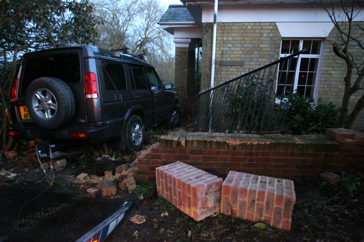 Homeowner's warning after stolen car ploughs into house