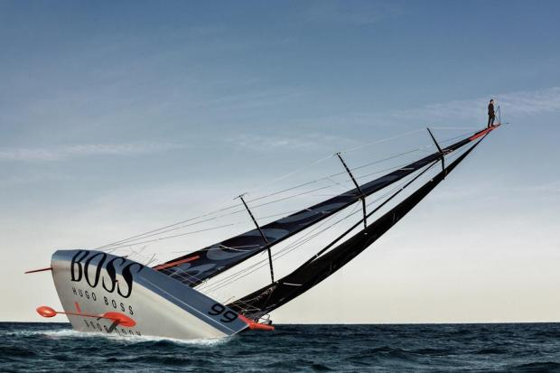 Hampshire sailor's daring and spectacular stunt at sea - video