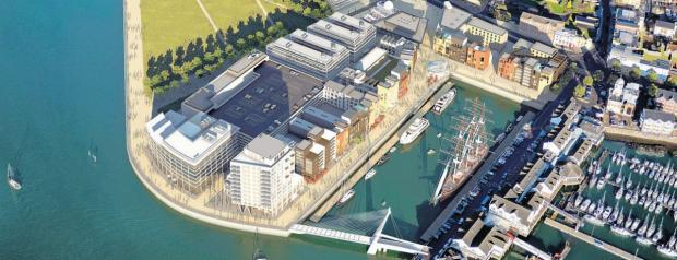 Daily Echo: An artist's impression of the proposed development of Royal Pier.