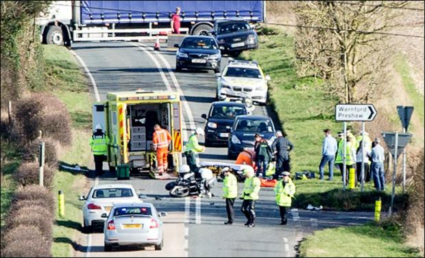 Serious crash closes major Hampshire road.Picture by Kevin Coltart