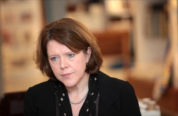 Maria Miller during a visit to Southampton