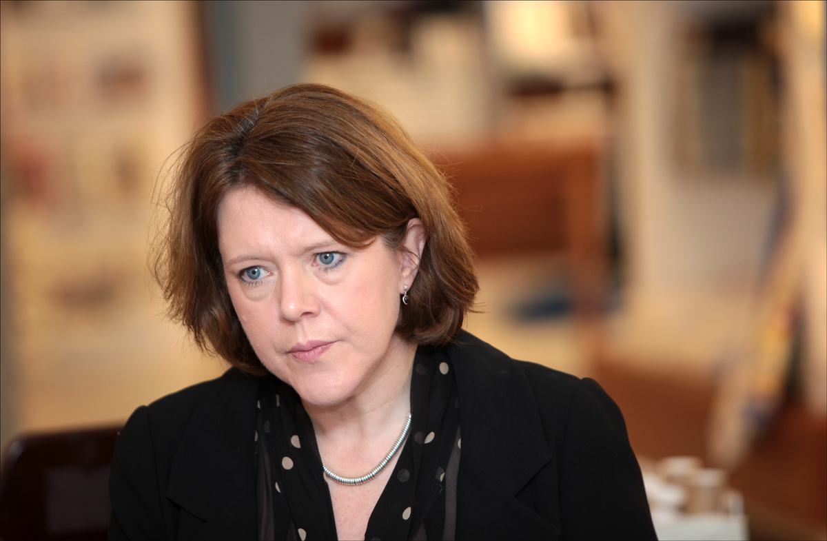 Maria Miller in Southampton yesterday.