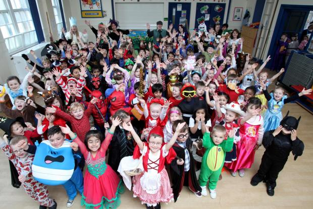 DRESSING UP TIME: Pupils dressed as their favourite ch