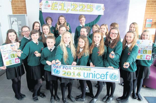 Year 7 pupils at Wildern School have raised £1,225 for Unicef.