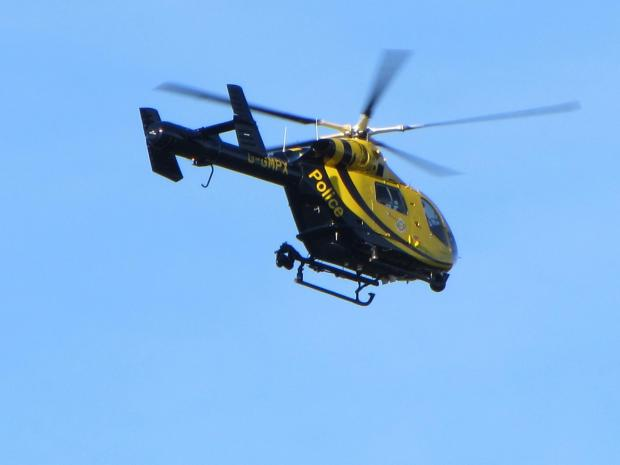 Daily Echo: Police helicopter circles village after robbery claims