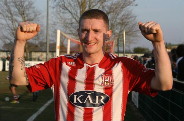 Daily Echo: Lee Wort, the Sholing striker whose goals have taken the club into the FA Vase semi finals