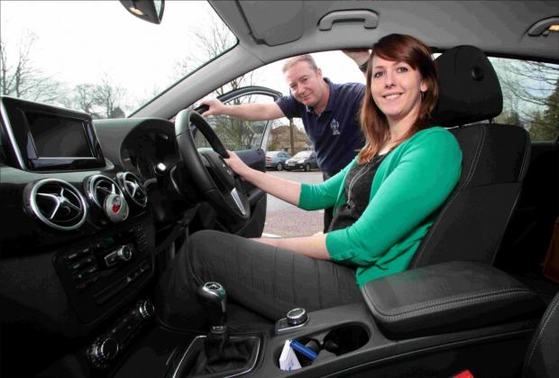 ECO DRIVE: Rebecca Pearson picks up some green driving tips from David Watkins of the Blue Lamp Trust.