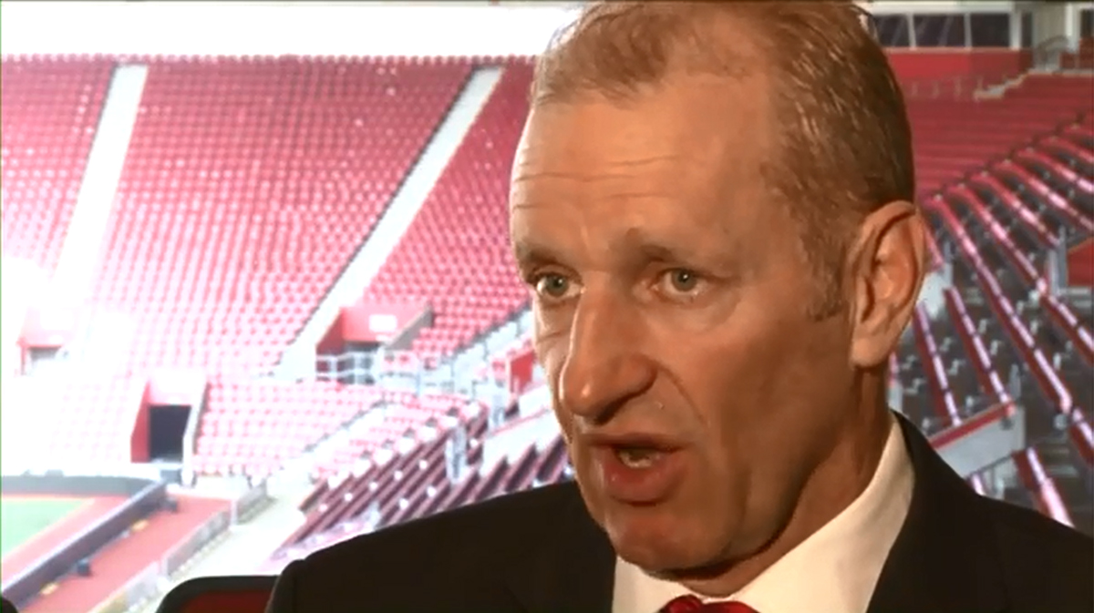 Ralph Krueger. Photo from YouTube/SouthamptonFC