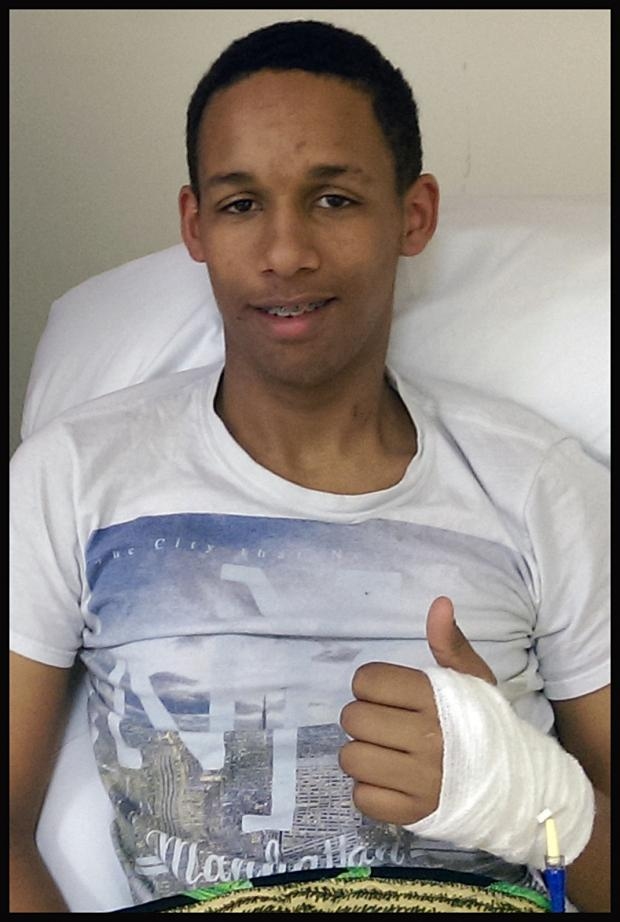 Daily Echo: Sam Mangoro, 16, is recovering in hospita