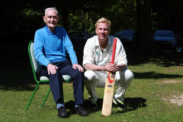 Ray Flood with Alan Mullally at Swan Green last year