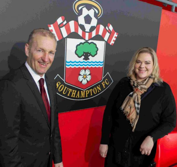 Saints chairman Ralph Krueger and the club's owner, Katharina Liebherr