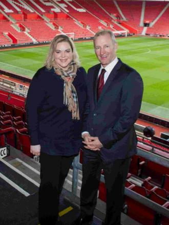Saints owner Katharina Liebherr and chairman Ralph Krueger