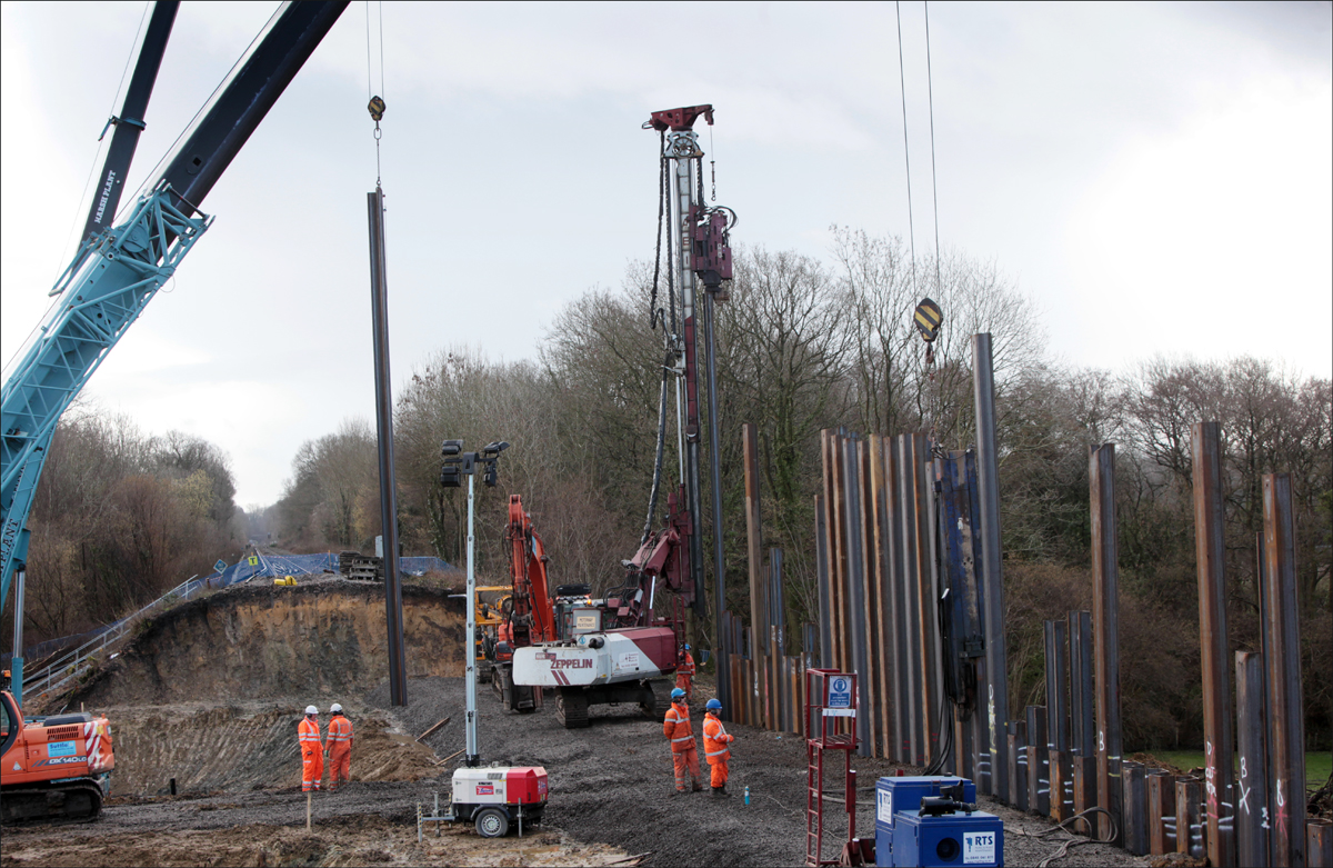 Work on the railway at Botley