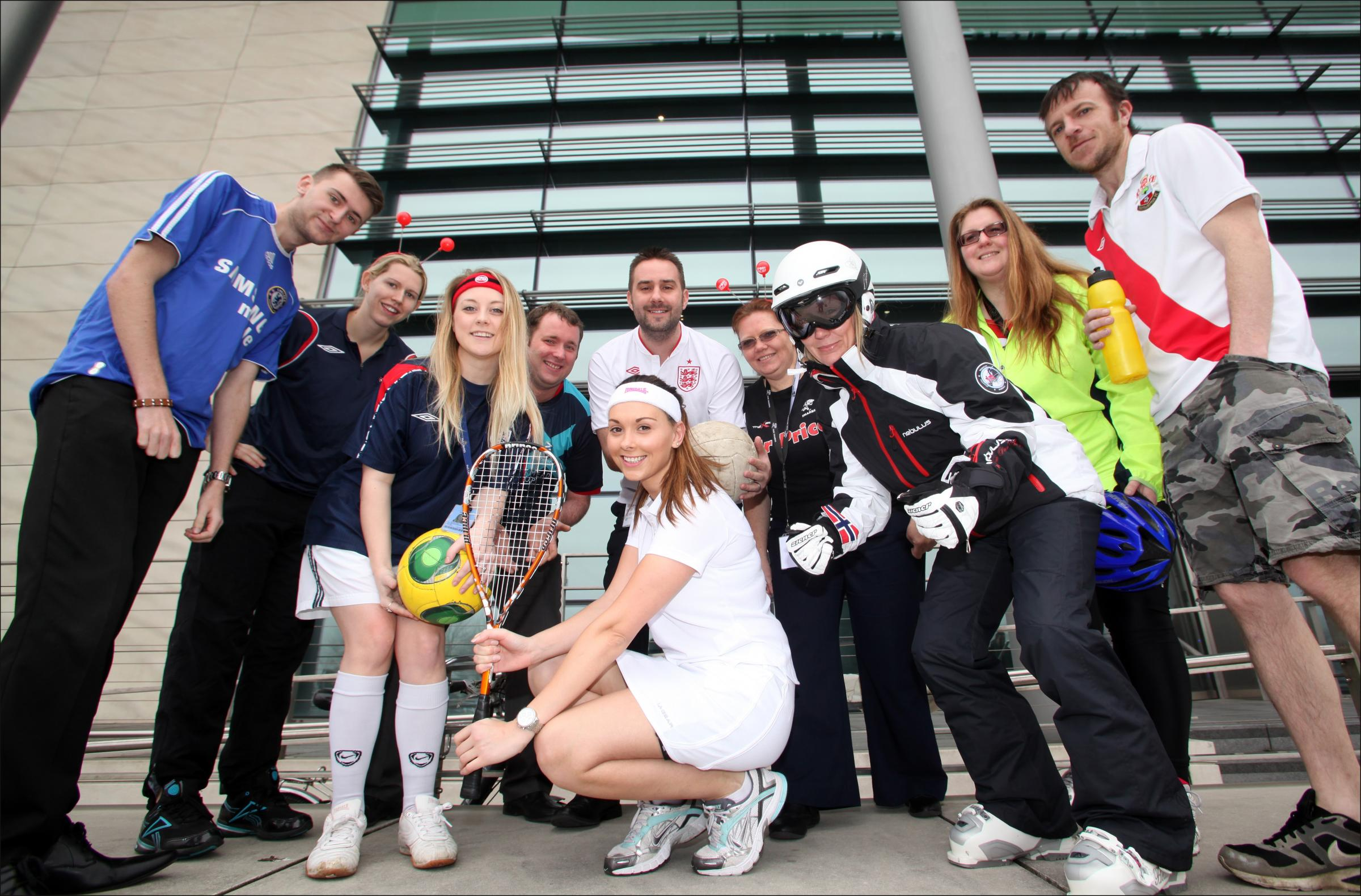 Staff from cruise operator Carnival do their bit for Sport Relief