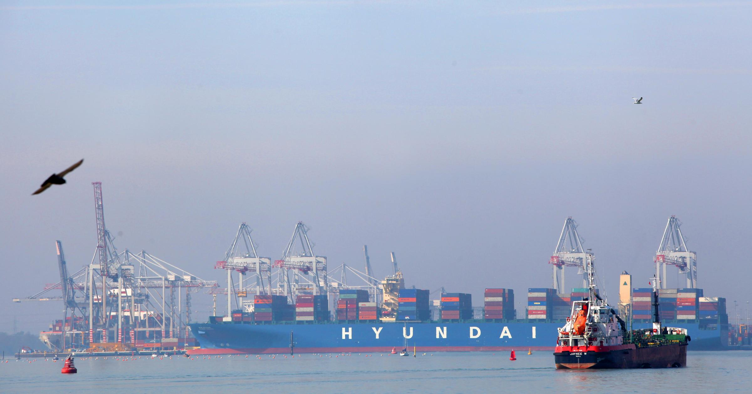 UK's newsest container berth handles first ship