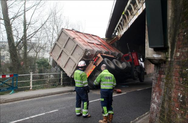 Anger as lorries get trapped under railway bridge 17 times in ten years