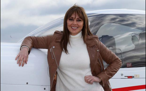 Loose Women presenter Carol Vorderman at Southampton Airport