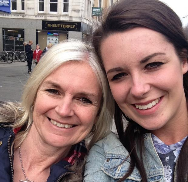 Daily Echo: Michelle Berry, 47 with her daughter Livvy Berry 21 from the Isle of Wight