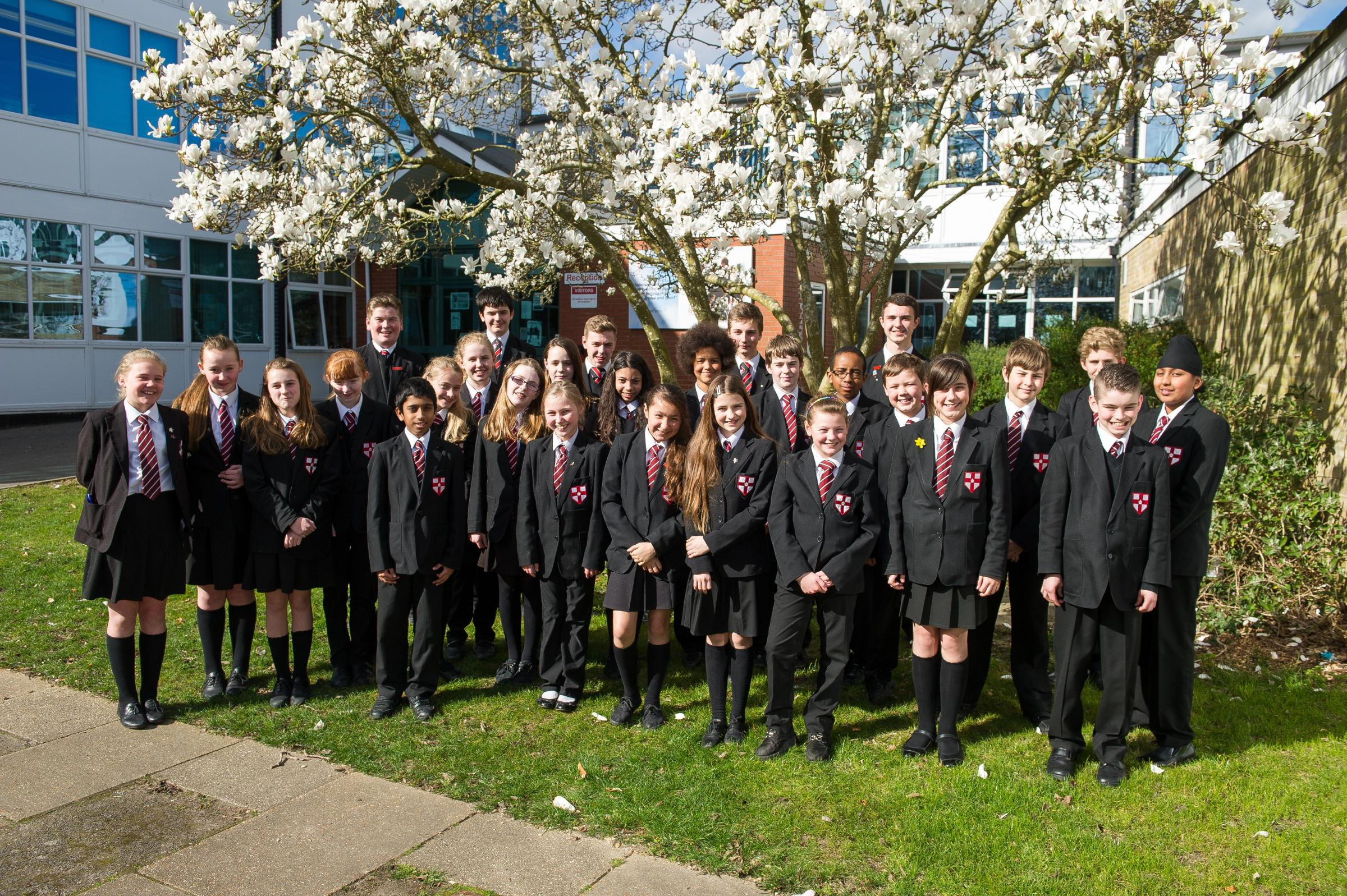 Pupils at St George Catholic College in Southampton