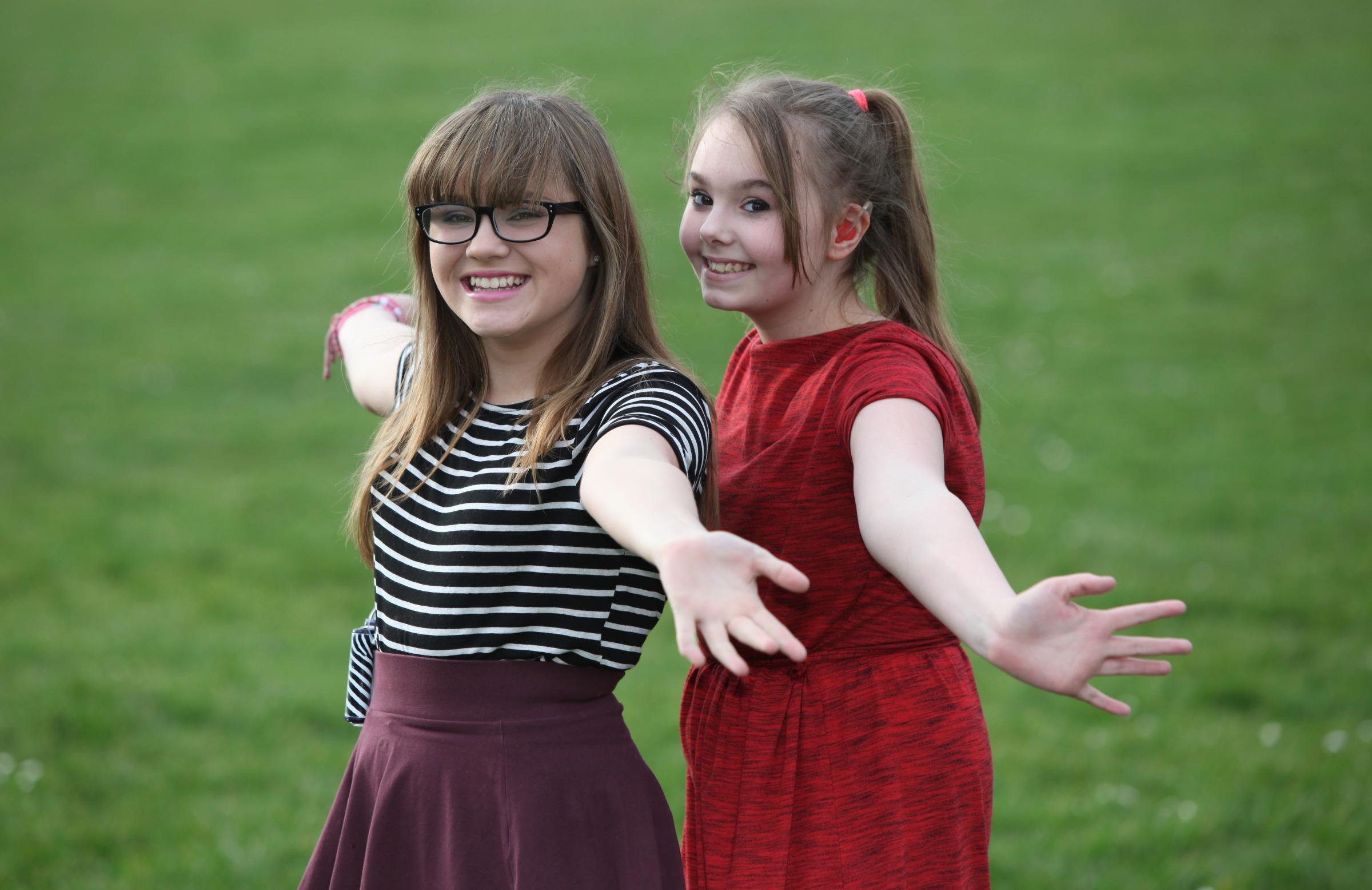 TeenStar finalists Lauren Thomas, left, and Rhiannon Dyke, both of Romsey