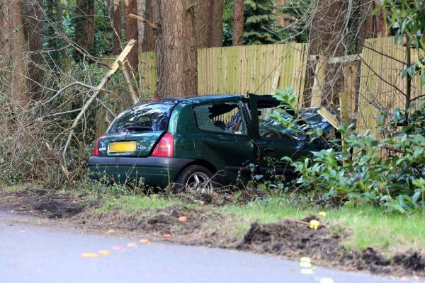 Daily Echo: The crash scene yesterday
