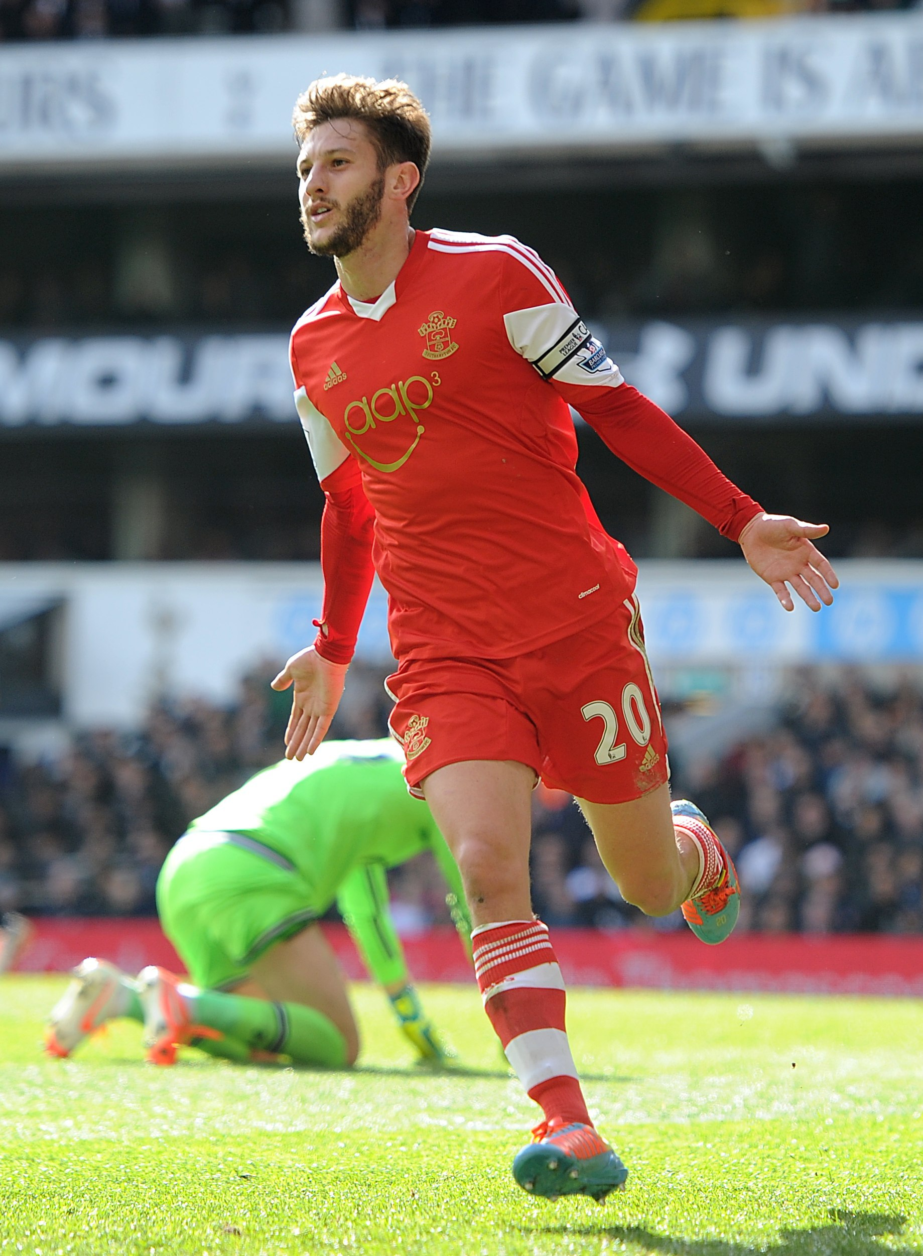 Adam Lallana has made the England squad in the 2014 World Cup sticker album