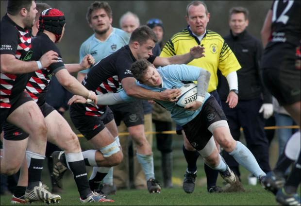 Action from Fordingbridge's clash with Team Solent
