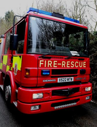 Firefighters tackle house blaze