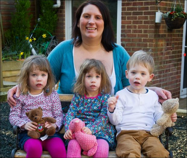 Mum of triplets says life is three times better now!