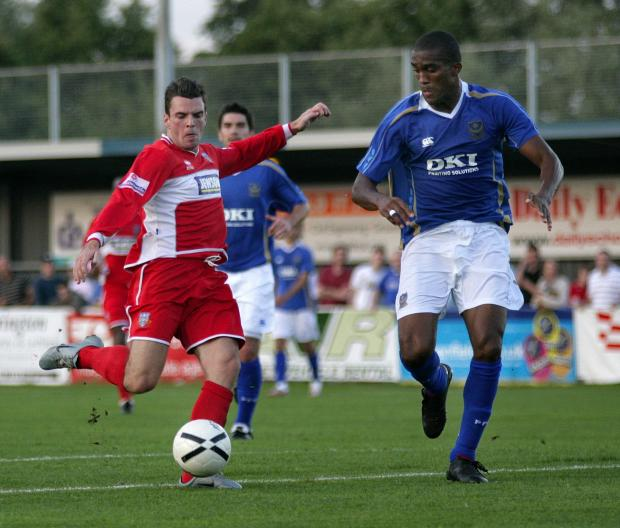 Daily Echo: Eastleigh v Pompey in a friendly in 2007