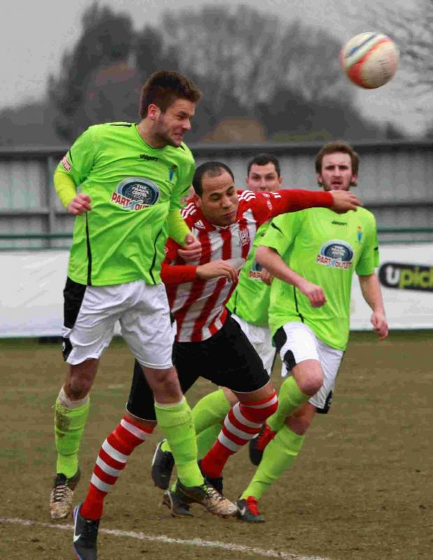 Daily Echo: Barry Mason, above (red) draws comparisons between Sholing and Chelsea in 2011/12.