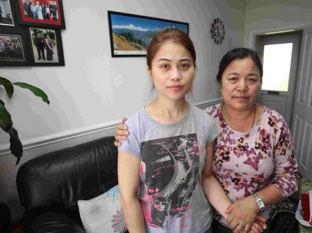 Daily Echo: NIGHTMARE: Rabina Pun with her mother Juna.