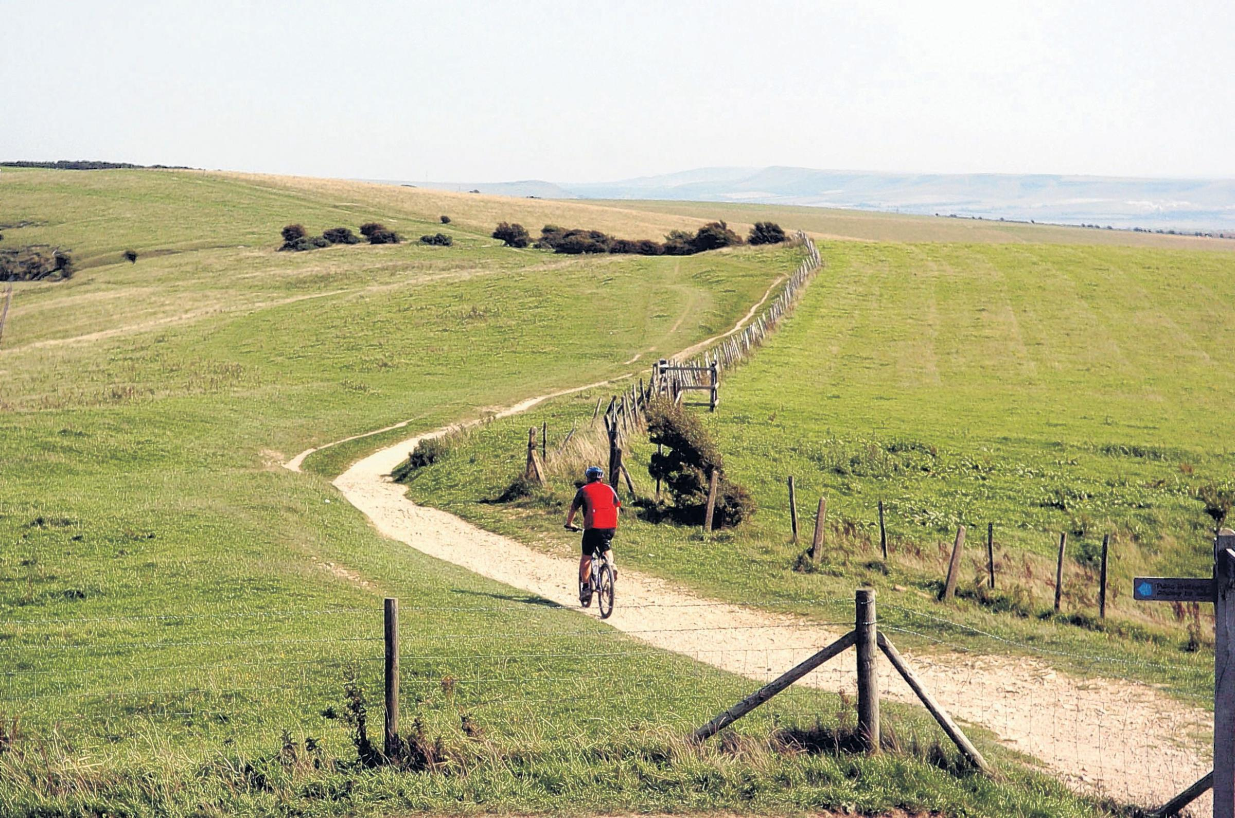 Cycling is a popular way to enjoy the South Downs.