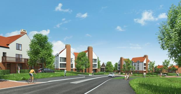 An artist's impression of part of the Barton Farm development