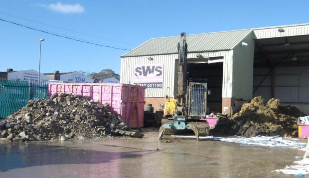 Solent Waste Service's depot in Eastleigh