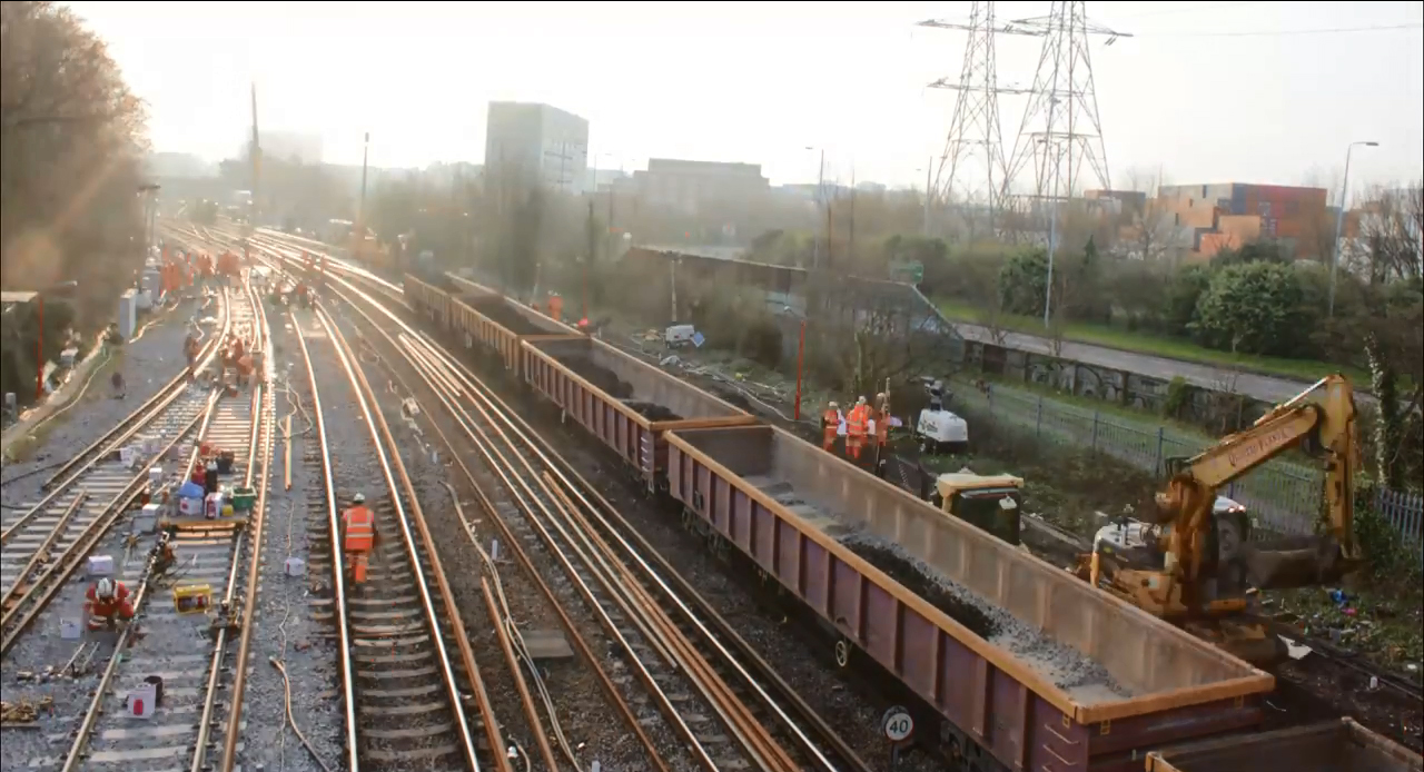 Rail works near Southampton Central Station