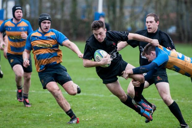 Action from Andover's clash with Romsey.